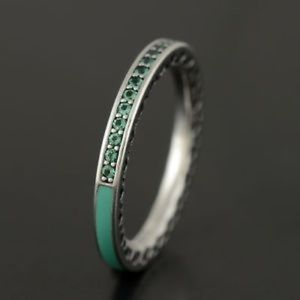 Authentic Pandora Radiant Heart Ring In Mint Color